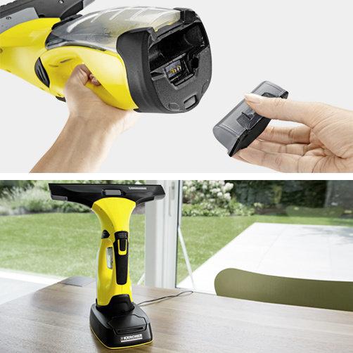 Čistič okien WV 5 Premium Non-Stop Cleaning Kit: Vrátane náhradnej batérie a nabíjacej stanice