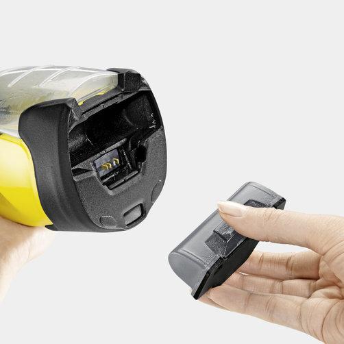 Aspirator pentru geamuri WV 5 Premium: Baterie detasabila