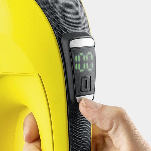 WV 6 Plus + úzka hubica: Displej na zobrazenie zvyšnej doby nabitia batérie s minútovou presnosťou