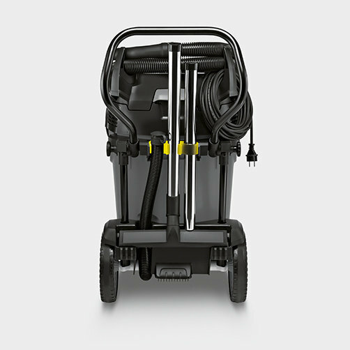 Wet and dry vacuum cleaner NT 75/2 Tact² Me Tc: Suction pipes and floor nozzles can be stored in any direction in the accessory holders
