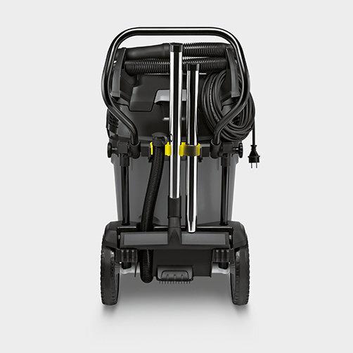 NT 75/2 Tact² Me Tc: Almacenaje de accesorios independiente de la dirección para tubos de aspiración y boquillas para suelos