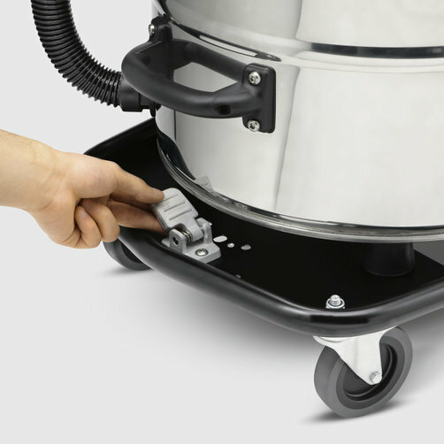Wet and dry vacuum cleaner NT 75/2 Tact² Me Tc: Tilting chassis with container lock