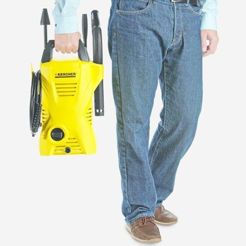 Міні-мийка K 2 Compact: Зручне положення в руці