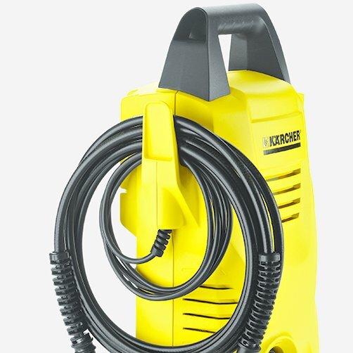 Міні-мийка K 2 Compact: Акуратне зберігання кабеля на спеціальному гачку