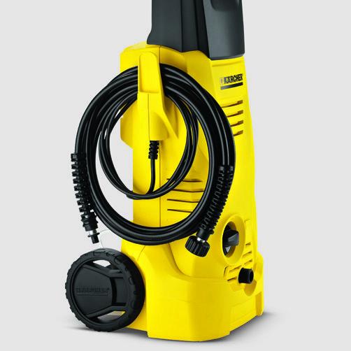 Мини-мойка K 2: Аккуратное хранение провода на специальном крючке