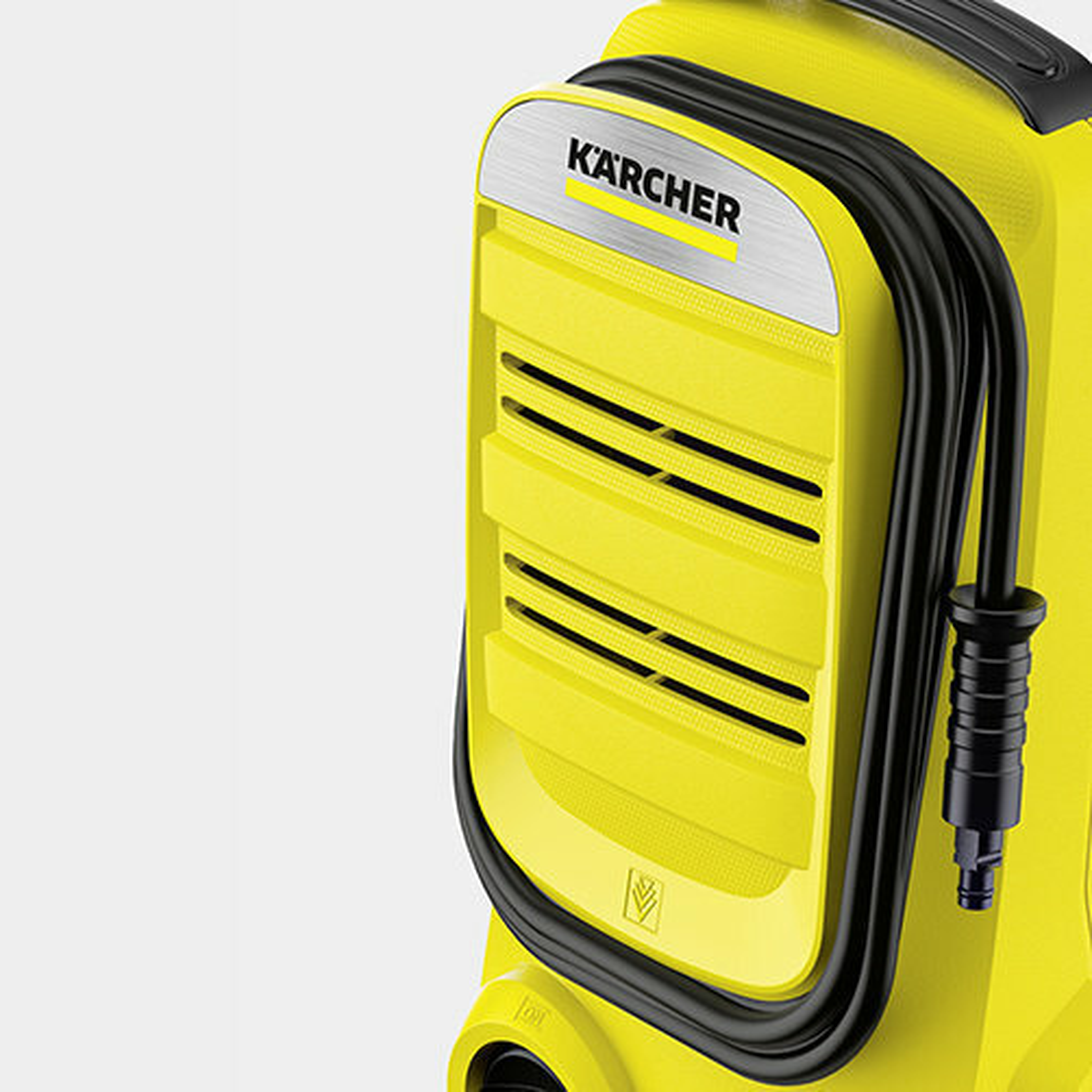 Magasnyomású mosó K 2 Compact: Tömlőtárolás a burkolat elülső részén