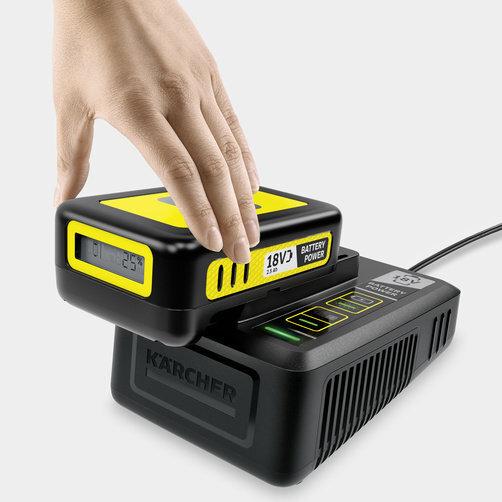 Starter Kit Battery Power 18 V 2.5 Ah: Cargador rápido de 18V