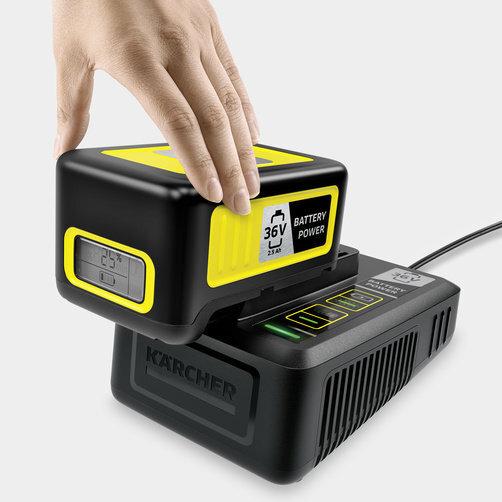 Быстрозарядный комплект 36 В 2,5 А: Быстрозарядное устройство 36 В