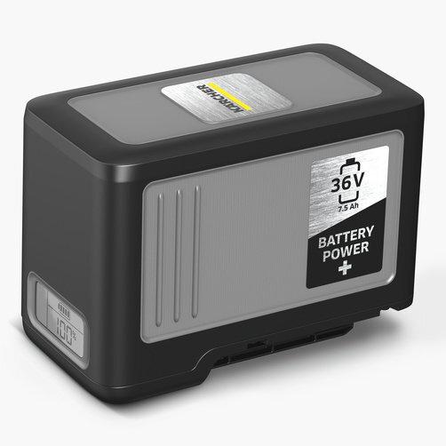 Stof-/waterzuiger NT 22/1 Ap Bp Pack: Krachtige 36V-Kärcher Battery Power+ accu met een capaciteit van 7,5 Ah