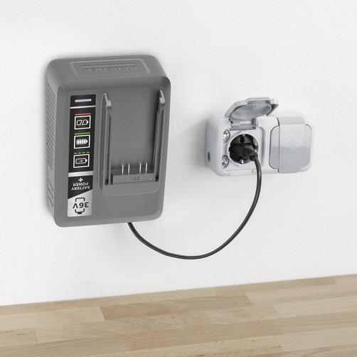 Rychlonabíječka 36 V: Držák na stěnu