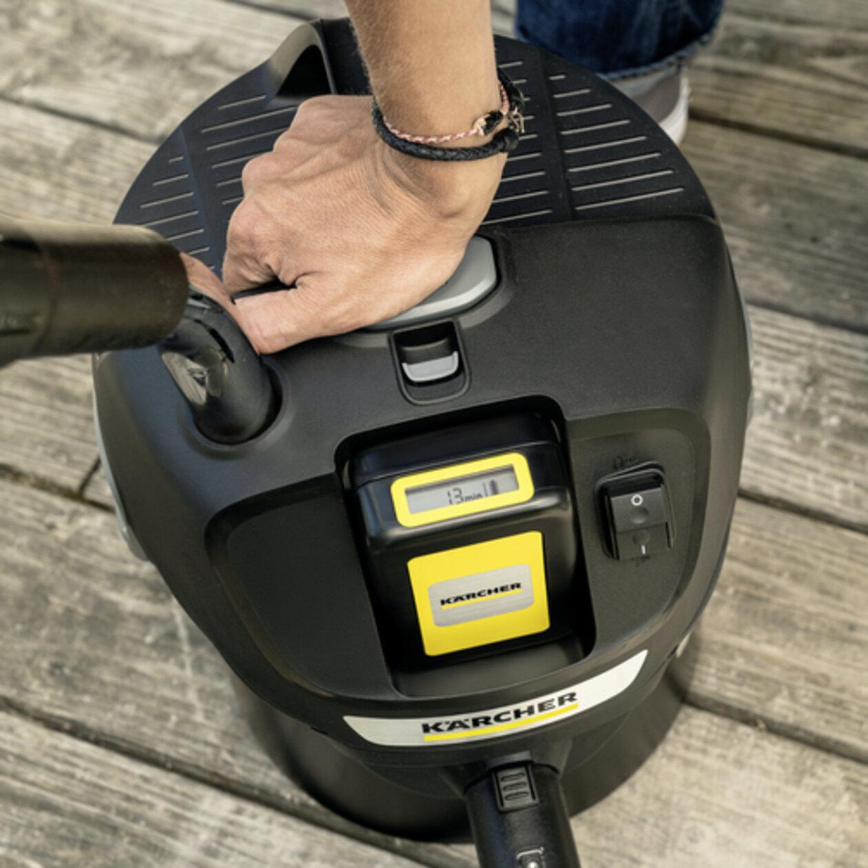 Пылесос для золы AD 2 Battery: Технология Kärcher ReBoost: очистка фильтра нажатием кнопки