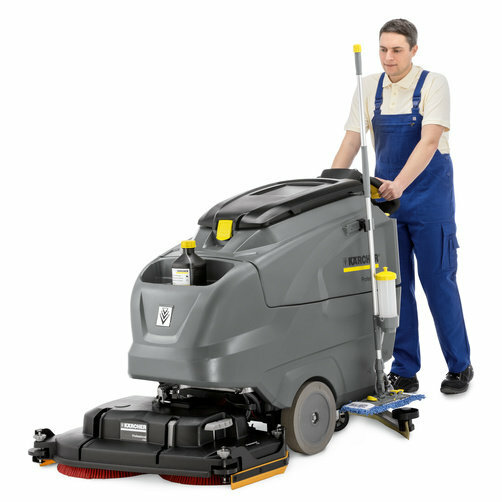 Scrubber Dryer B 120 W DOSE: The brush head and squeegee are automatically adjusted