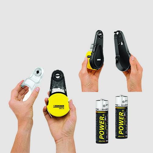 Τρυπάνι αναρρόφησης σκόνης DDC 50: Περιλαμβάνει τις μπαταρίες