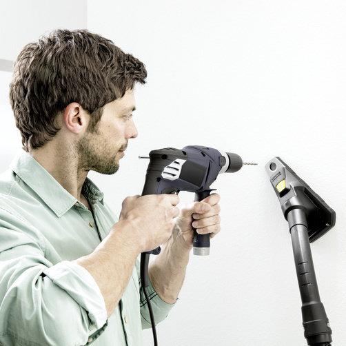 Господарський пилосос WD 6 Premium + насадка-пиловловлювач: Пиловловлювач надійно працює на всіх звичайних поверхнях стін і стель