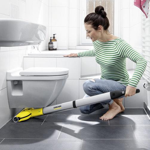 FC 3 sin cable: Diseño estilizado y cabezal para limpieza de suelos con articulación giratoria