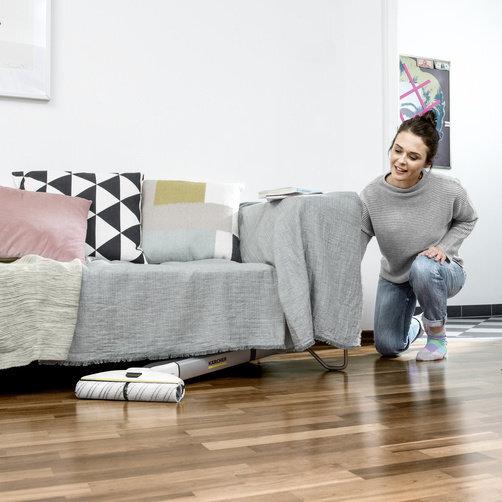 Keménypadló tisztító FC 3  Premium akkumulátoros (fehér): A karcsú formatervezésű padlófej forgócsuklóval
