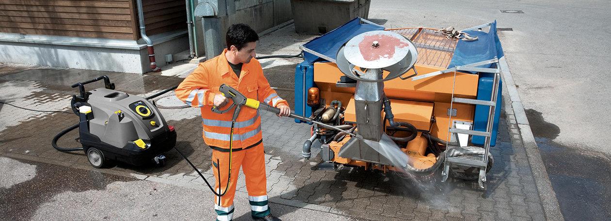 Kärcher Vysokotlaké čističe s ohřevem třídy Kompakt - snadná obsluha pro každého.