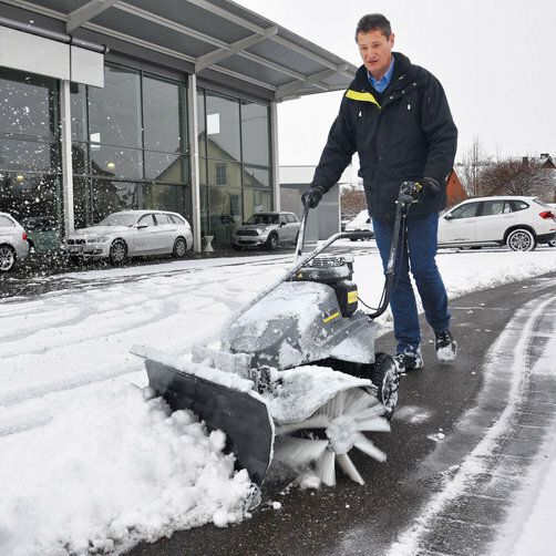 Sweeper KM 80 W P: Snow blade for use in winter