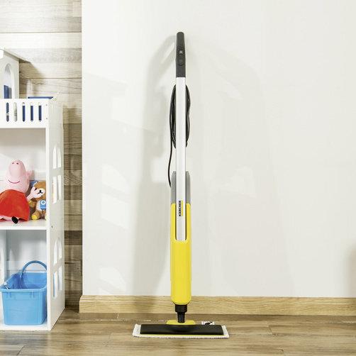 SC 2 Upright EasyFix: Design subțire al dispozitivului și capul de curatare cu articulație pivotantă