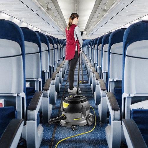 Пылесос сухой уборки T 12/1 HF: Специально для уборки салонов воздушных судов.