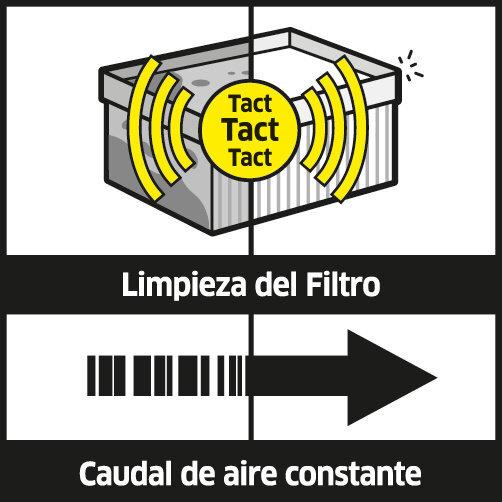 NT 75/2 Tact² Me: Limpieza automática del filtro Tact²