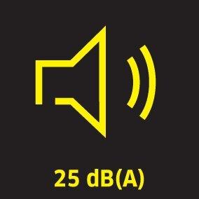picto noise 25dBA oth 01 CI15 284x284 CMYK - AIR PURIFICADOR DE AIRE AFG 100 (BLANCO) KARCHER EN 1822:1998: 1.024-800.0