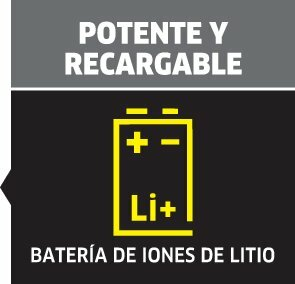 picto powerful and rechargeable left oth 1 ES CI15295x284 - Aspirador manual Karcher VC 5 sin cable 1.349-300.0
