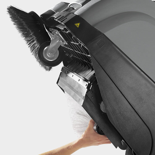 Подметально-всасывающая машина KM 75/40 W G: Простота обслуживания
