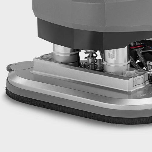 Masina de frecat aspirat BD 70/75 W Classic Bp: Capul de frecare și racleta sunt fabricate din aluminiu durabil