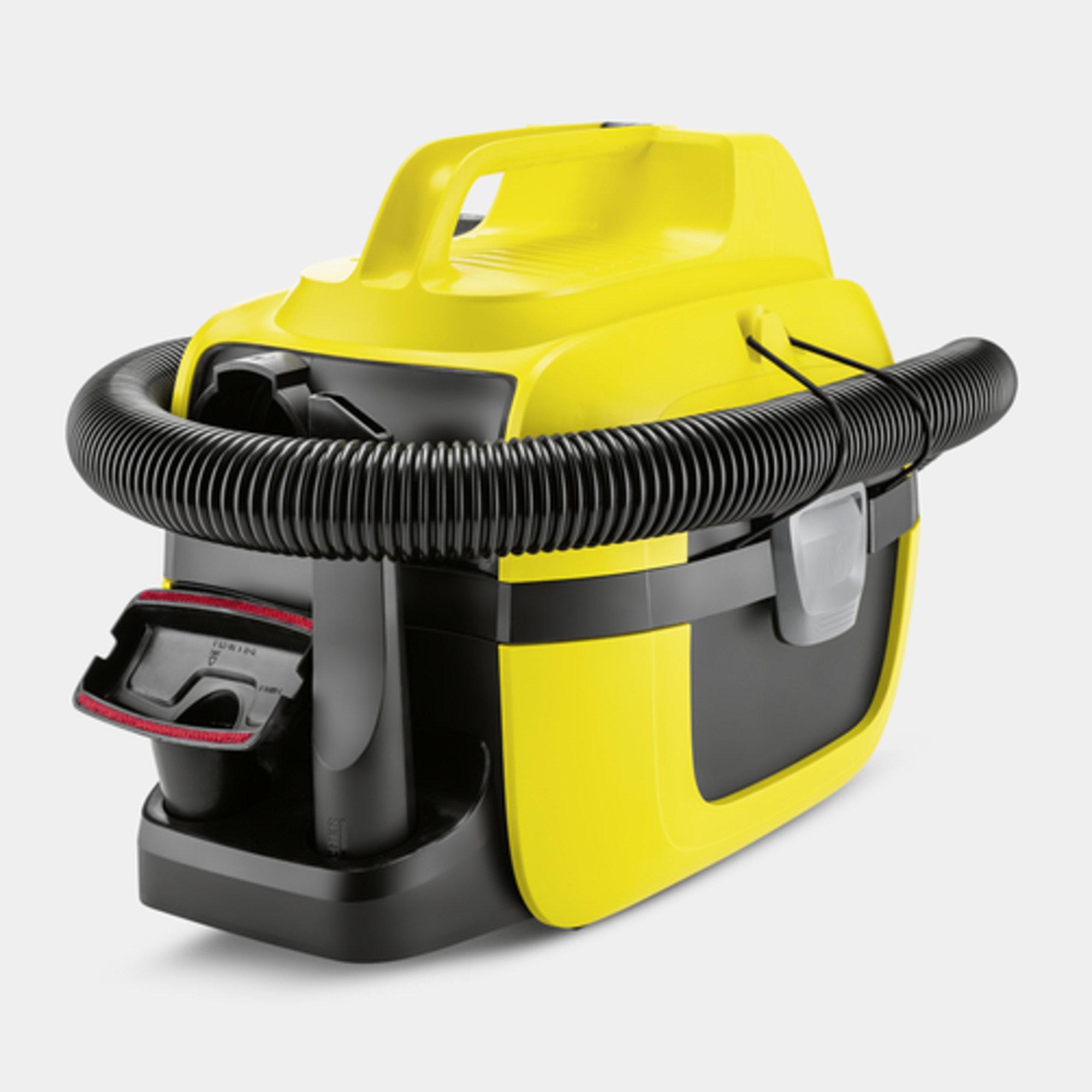 Viacúčelový vysávač Viacúčelový akumulátorový vysávač WD 1 Compact Battery: Kompaktný, prenosný dizajn