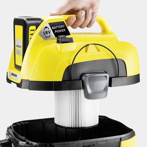 Хозяйственный пылесос WD 1 Compact Battery Set: Специальный патронный фильтр