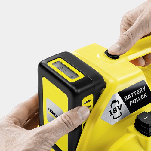 Viacúčelový vysávač Viacúčelový akumulátorový vysávač WD 1 Compact Battery: Systém vymeniteľných batérií 18 V Battery Power