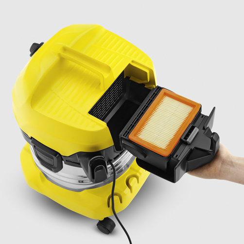 Aspirator umed-uscat WD 4 Premium: Tehnologie brevetată de îndepărtarea filtrului