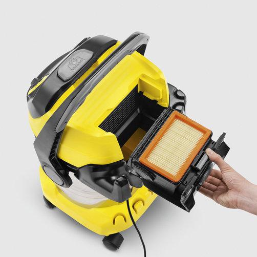 Aspirator umed-uscat WD 5 Premium: Tehnologie brevetată de îndepărtarea filtrului