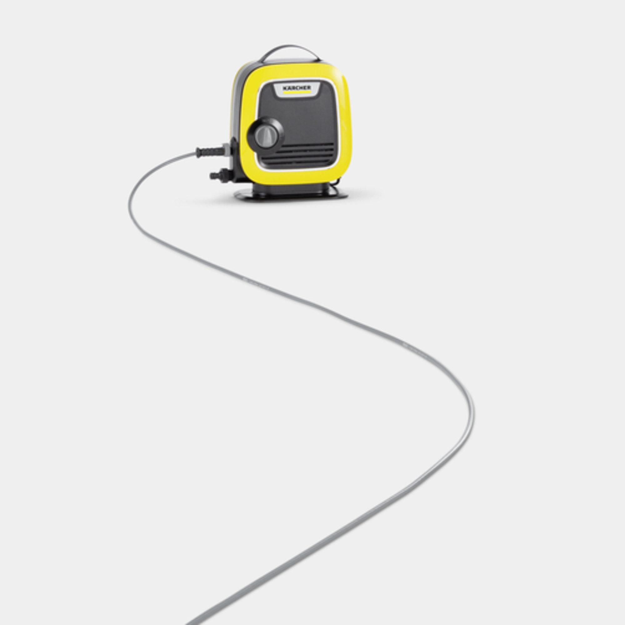 High pressure washer K Mini : Extra-thin PremiumFlex high-pressure hose