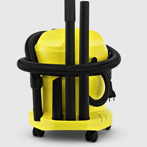 Хозяйственный пылесос WD 2: Практичное хранение кабеля и аксессуаров