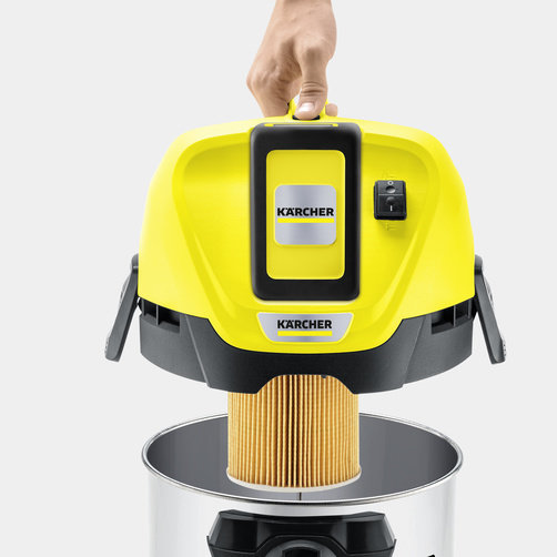 Viacúčelový vysávač Viacúčelový akumulátorový vysávač WD 3 Battery Premium: Špeciálny patrónový filter