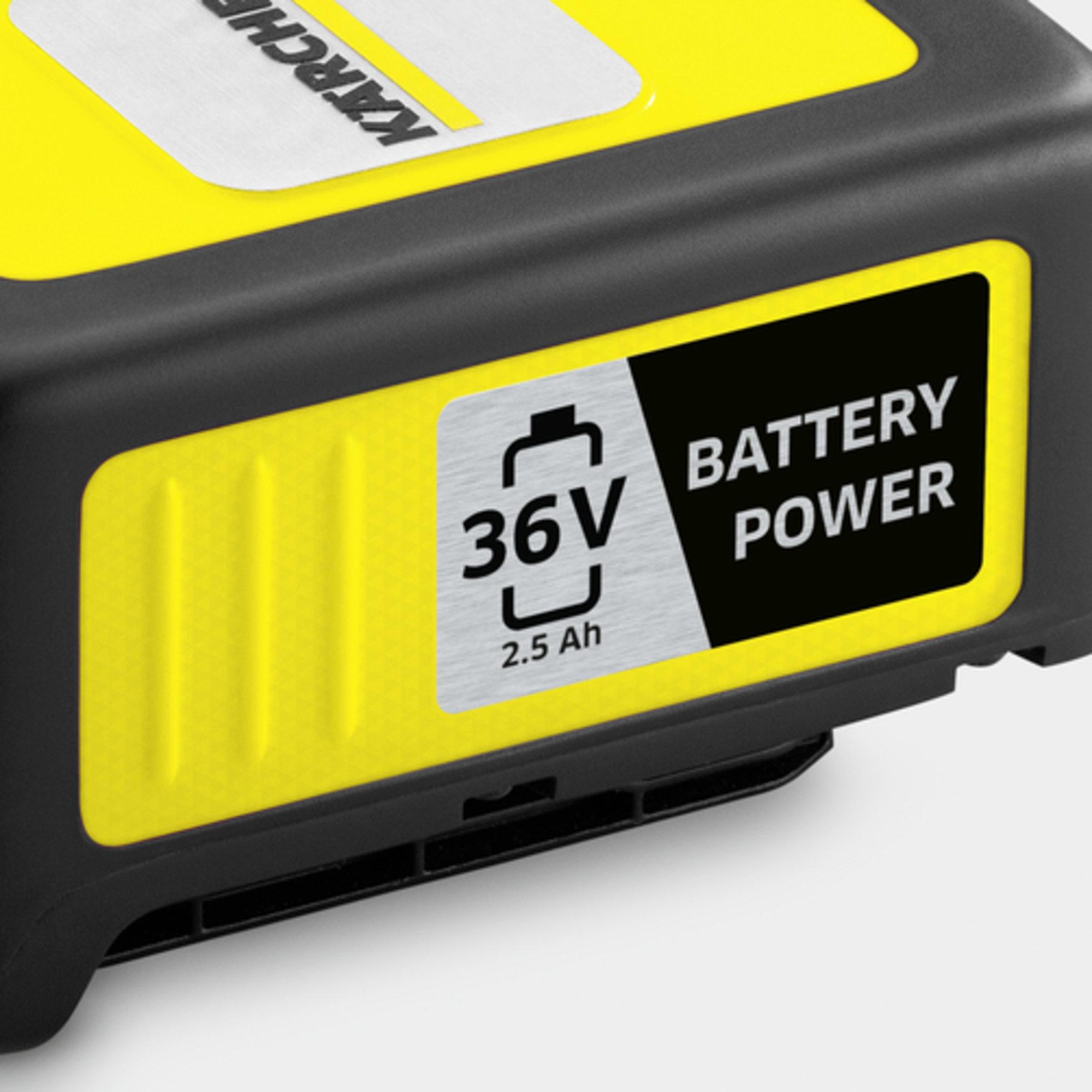 Battery power vahetatav aku 36/25: Kärcheri 36 V akuplatvorm