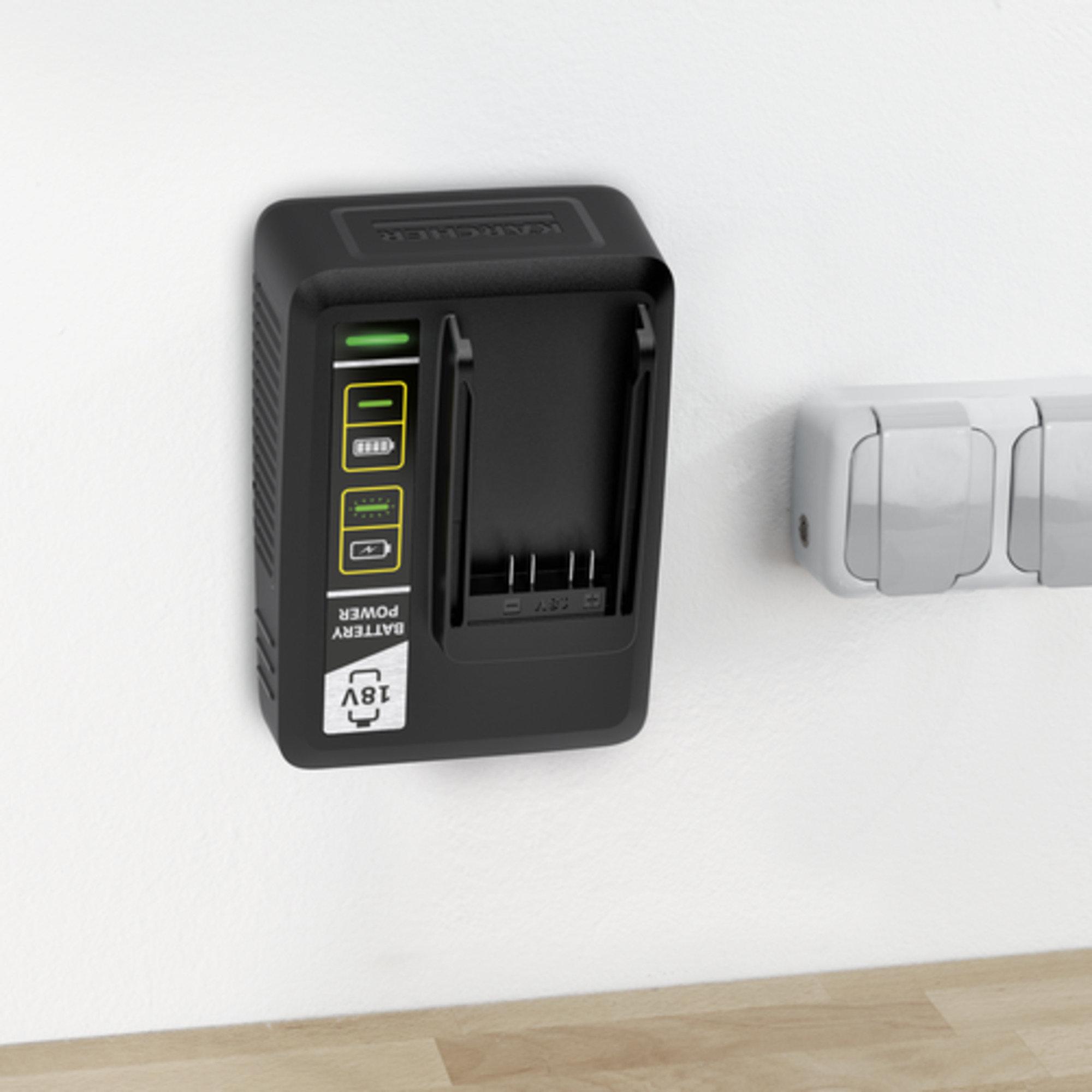 Kiirlaadija Battery Power 18V: Seinakinnitus