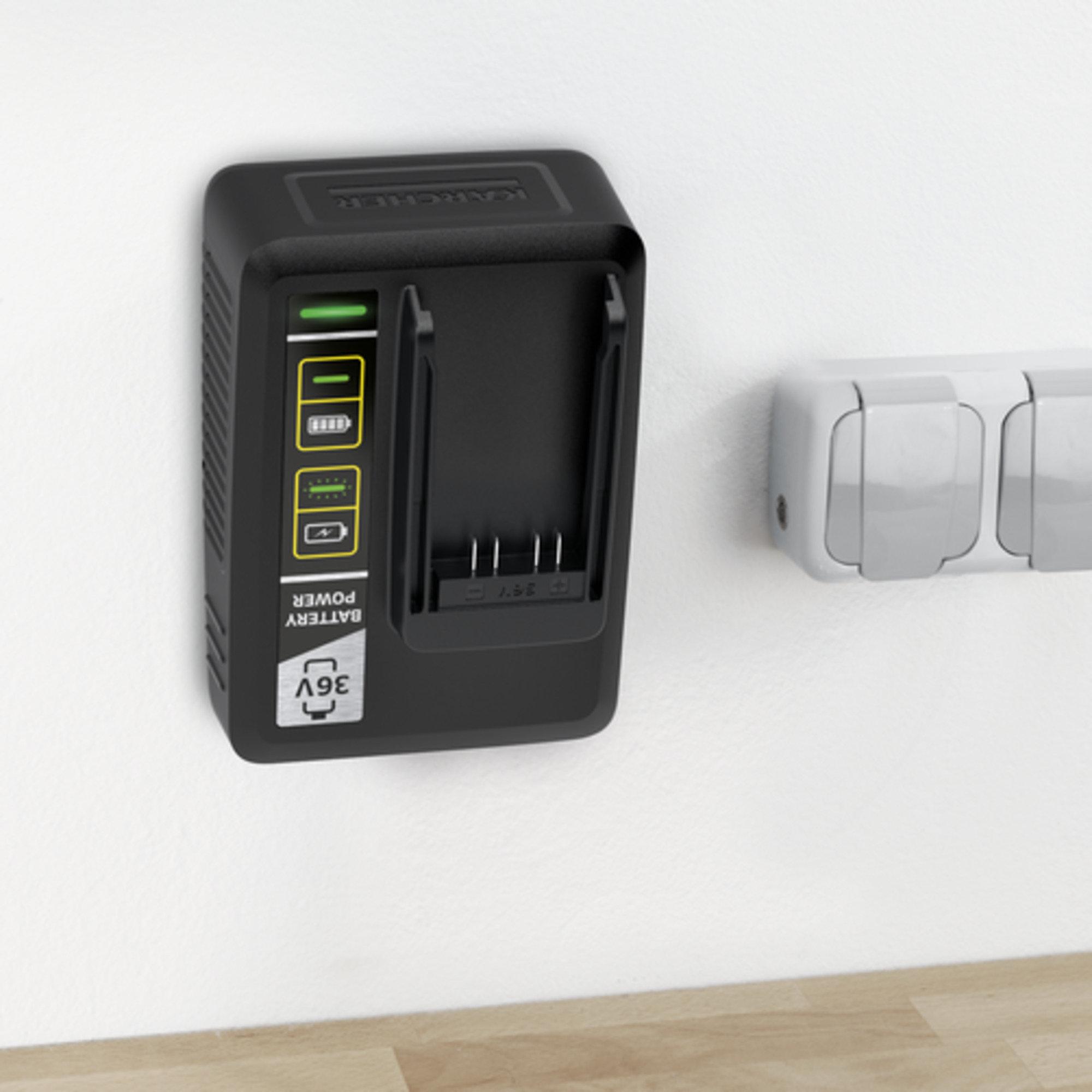 Kiirlaadija Battery Power 36 V: Seinakinnitus