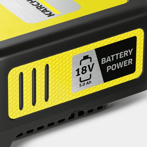 Battery power vahetatav aku 18/50: Kärcheri 18 V akuplatvorm