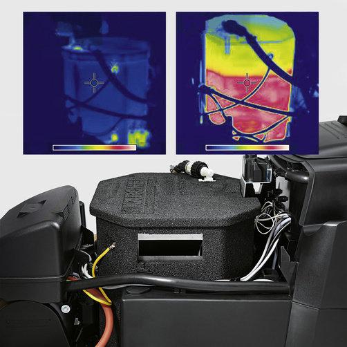 Limpiadora de alta presión HDS-E 3.3/25-4 M Ec 24 kW: Extraordinaria eficiencia energética para un alto ahorro de gastos