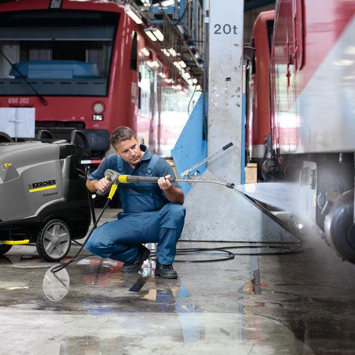 Limpiadora de alta presión HDS-E 3.3/25-4 M Ec 24 kW: Temperatura de servicio especialmente alta