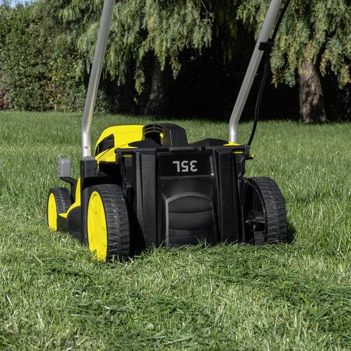 Maşină de tuns iarbă LMO Battery 18-33 Set: Sistem de tăiere 2-in-1
