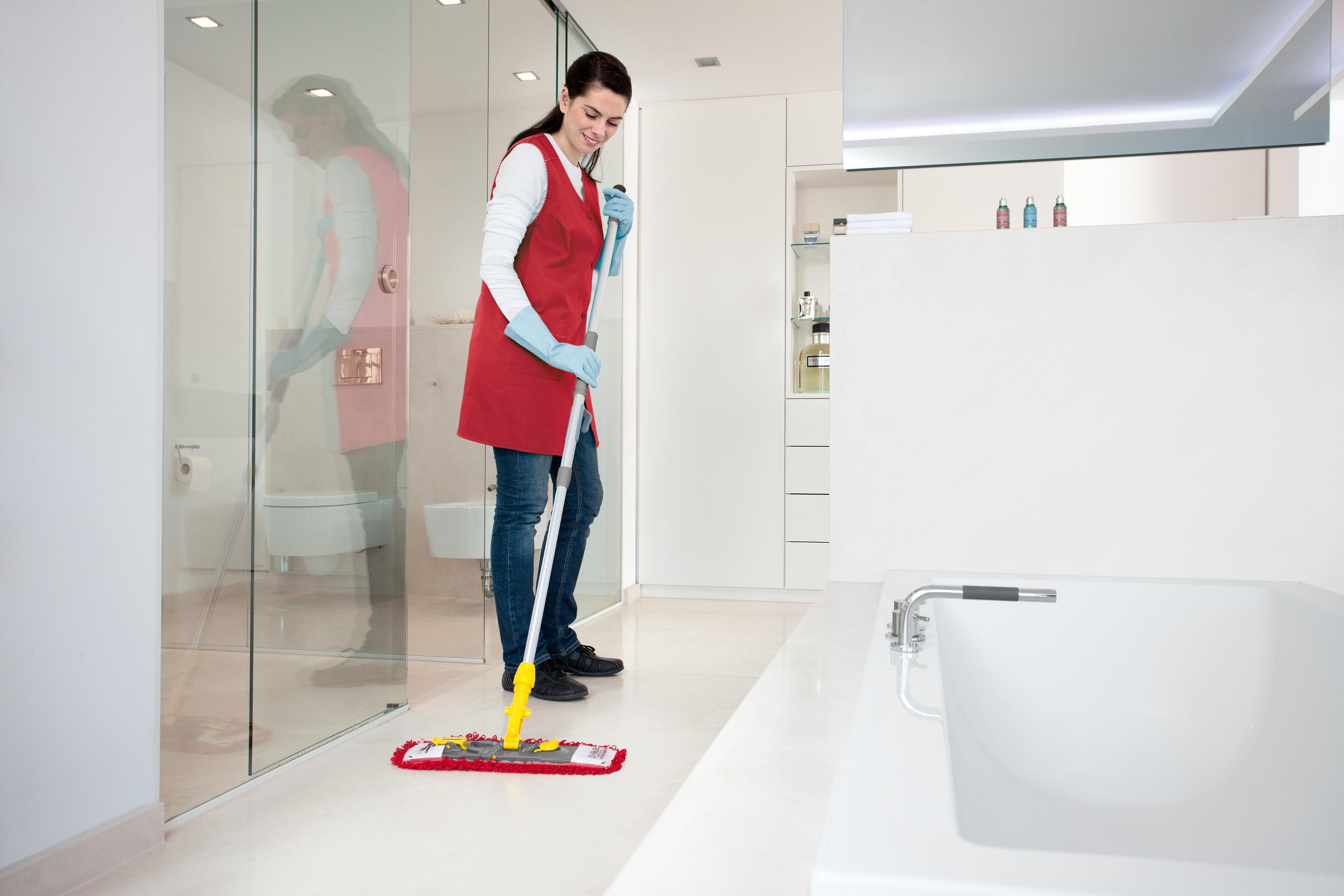 Hygienische Reinigung mit der Wechseltuchmethode