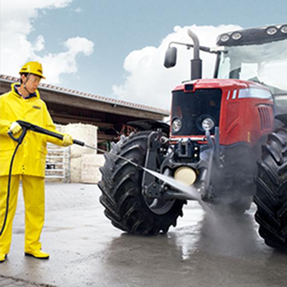 農機具などの洗浄に