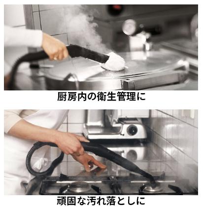 スチームでの除菌力と洗浄についての画像