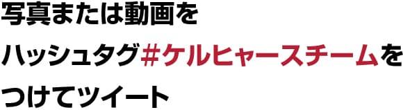 写真または動画をハッシュタグ#ケルヒャースチームをつけてツイート