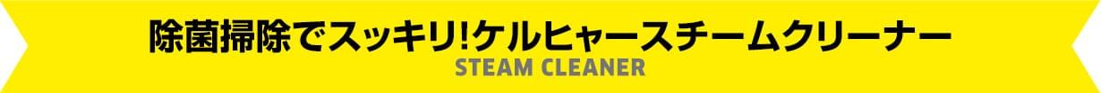 除菌掃除でスッキリ!ケルヒャースチームクリーナー