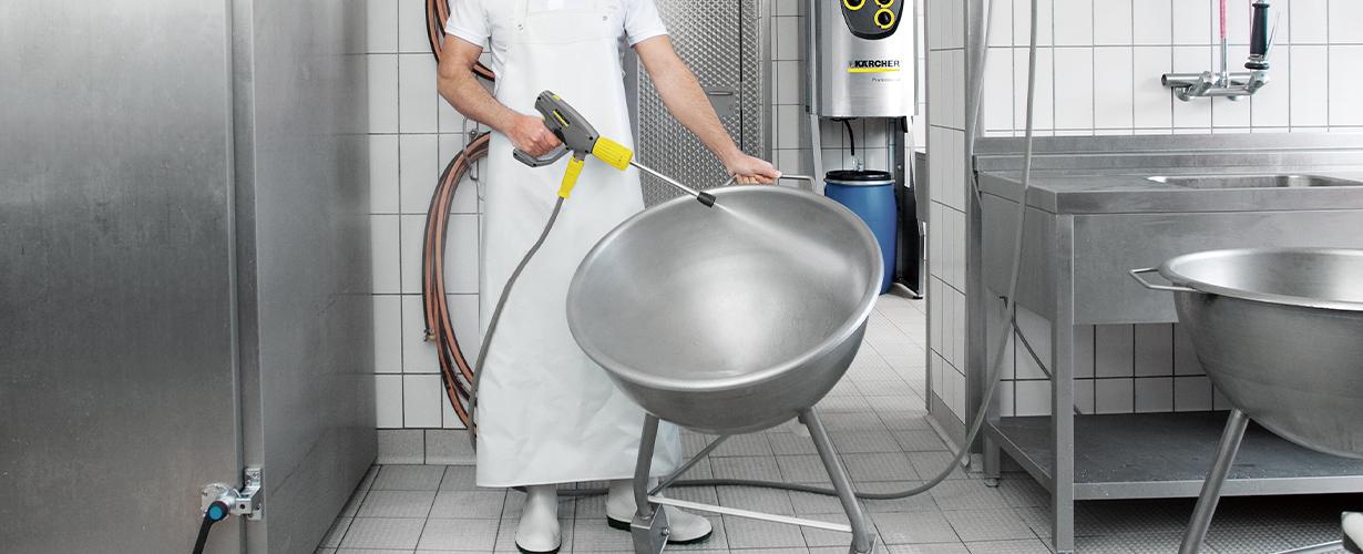油汚れ・雑菌など、温水でスッキリ洗浄
